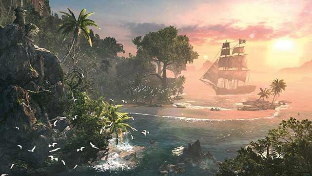 Assassins Creed 4 Black Flag Sunset
