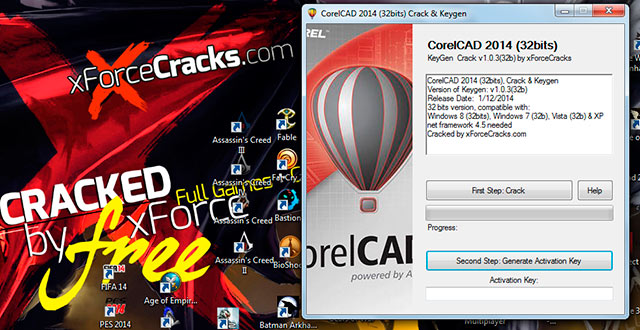 CorelCAD 2014 Crack by xforcecracks.com