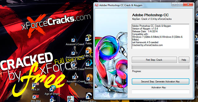 PHOTOSHOP CC crack-v104 by xforce
