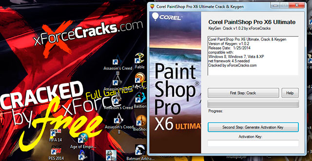PaintShopProX6Ultimate Crack by xforce