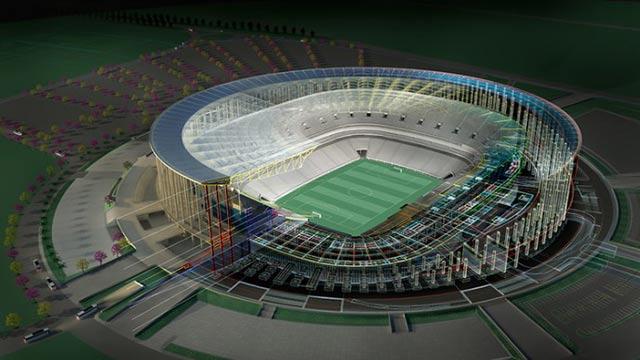 Autocad 2014 Stadium Rended