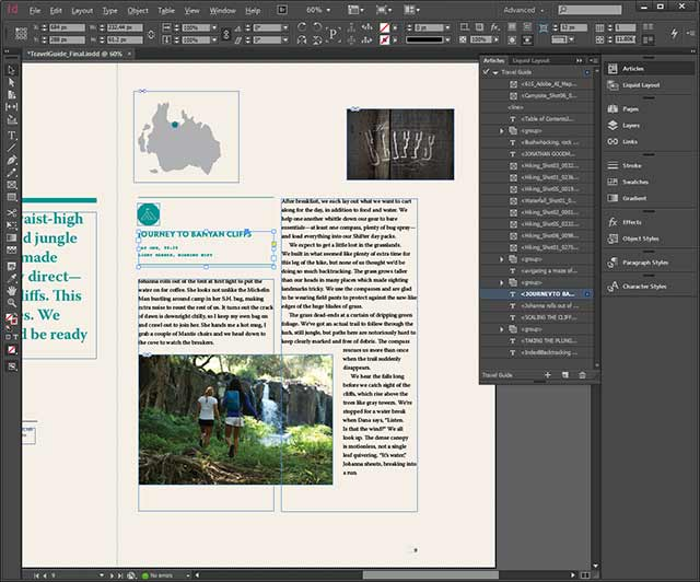 Indesign CC Articles Panel