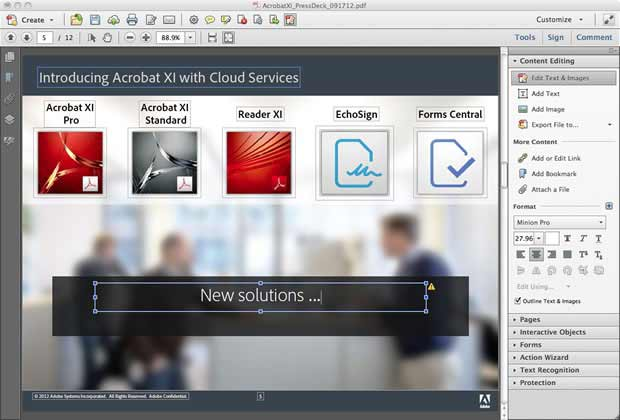 Acrobat XI New Screen