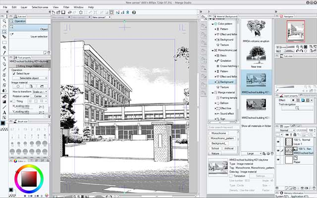 Manga Studio perspective view