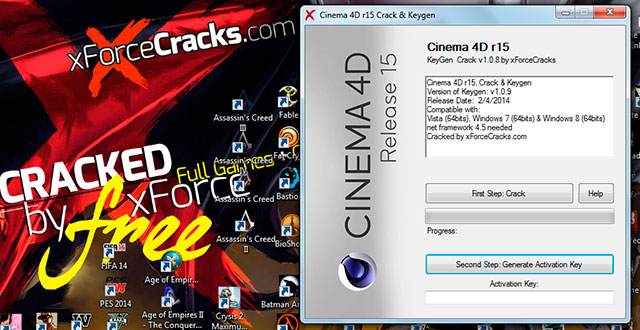 Cinema 4d r15 Cracked by xforce