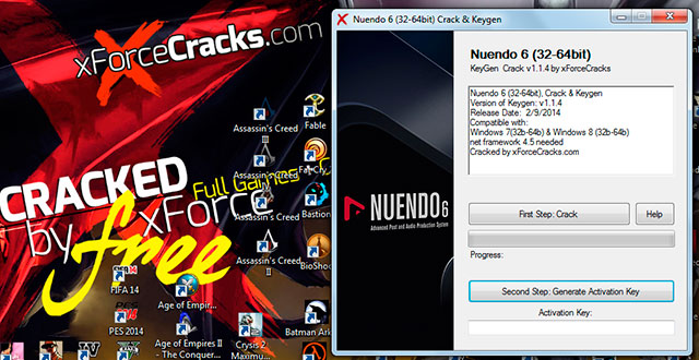 Nuendo 6 cracked by Xforce v1.1.4
