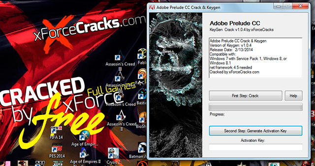 Prelude CC cracked by xforce (v1.0.4)