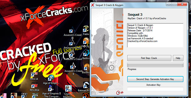 Sequel 3 cracked by xforce v1.0.1