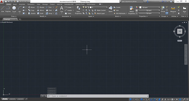 autocad-work-space