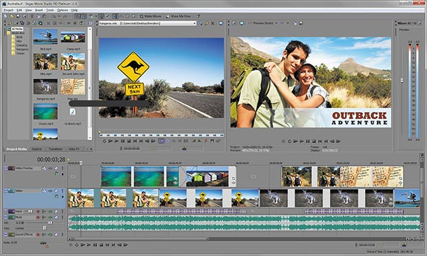Sony Vegas Pro 11 processes, renders and saves considerably faster than Premiere Pro
