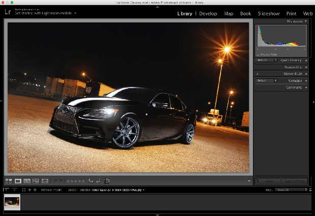 Lightroom is optimal for retouching images, personal or professional