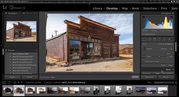 Photoshop Lightroom CC 6 Develop Navigator