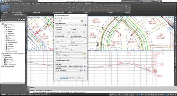 Dynamic offset profiles civil 3d