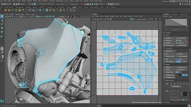 uv editor workflow in maya 2019