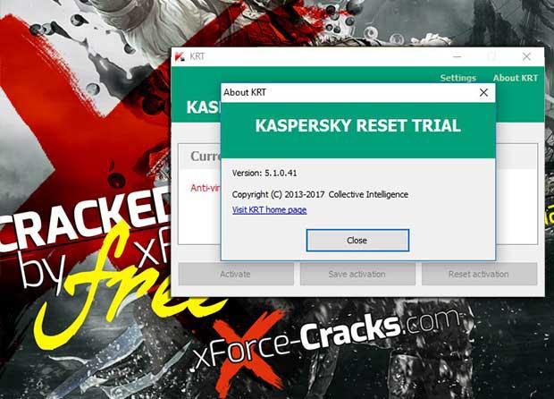 KRT v-5.1.041 Kaspersky 2018 Reset Trial Crack