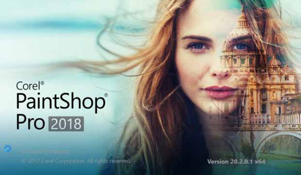 PaintShop Pro 2018 intro screen