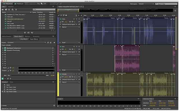 Learn the basic steps to record, mix, and export audio content