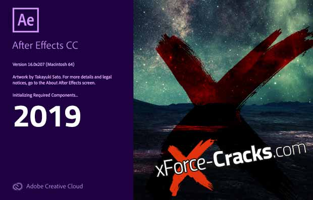 After Effects 2019 cracked by xforce.