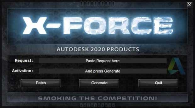 xforce keygen Autocad 2020