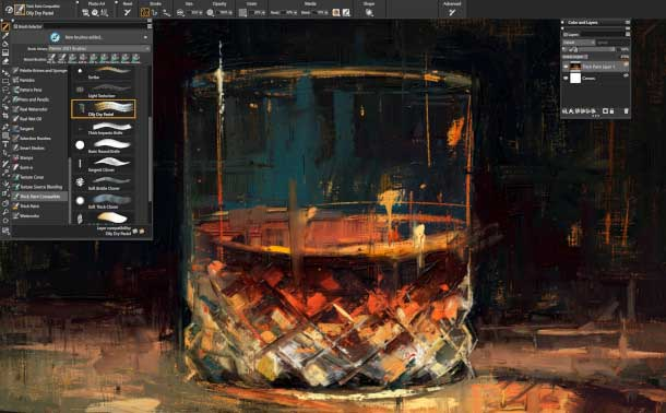 Painter 2021 Thick Paint workflow