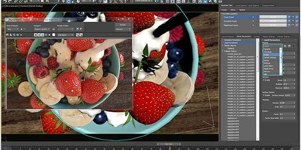 Render high-quality scenes with 3dsmax
